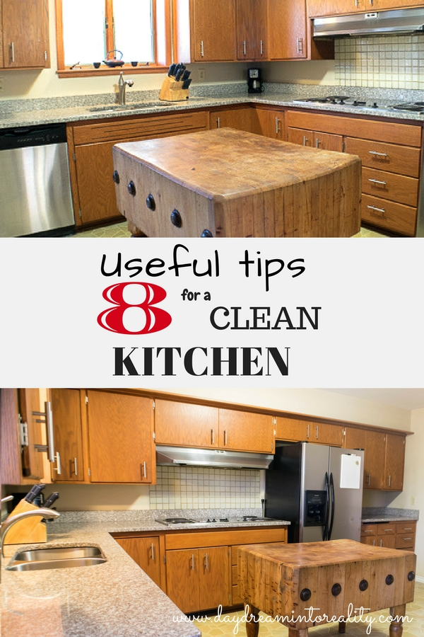 8 USEFUL TIPS FOR A CLEAN KITCHEN