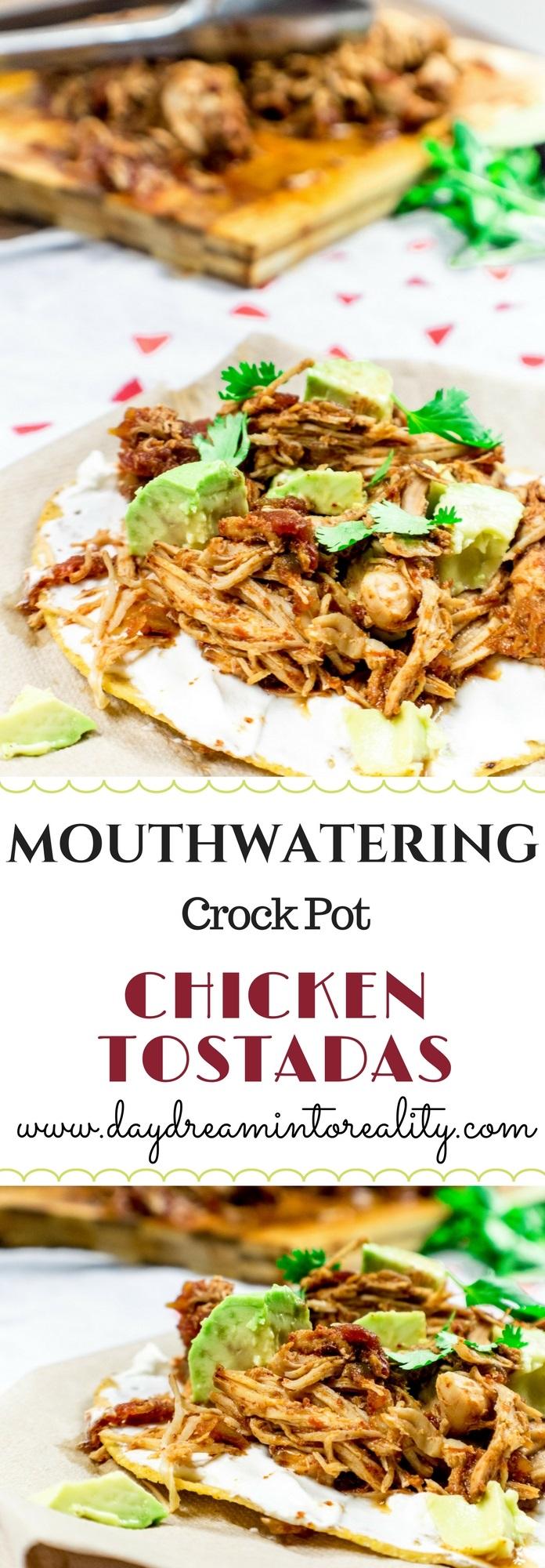 Mouthwatering Crock Pot Chicken Tostadas
