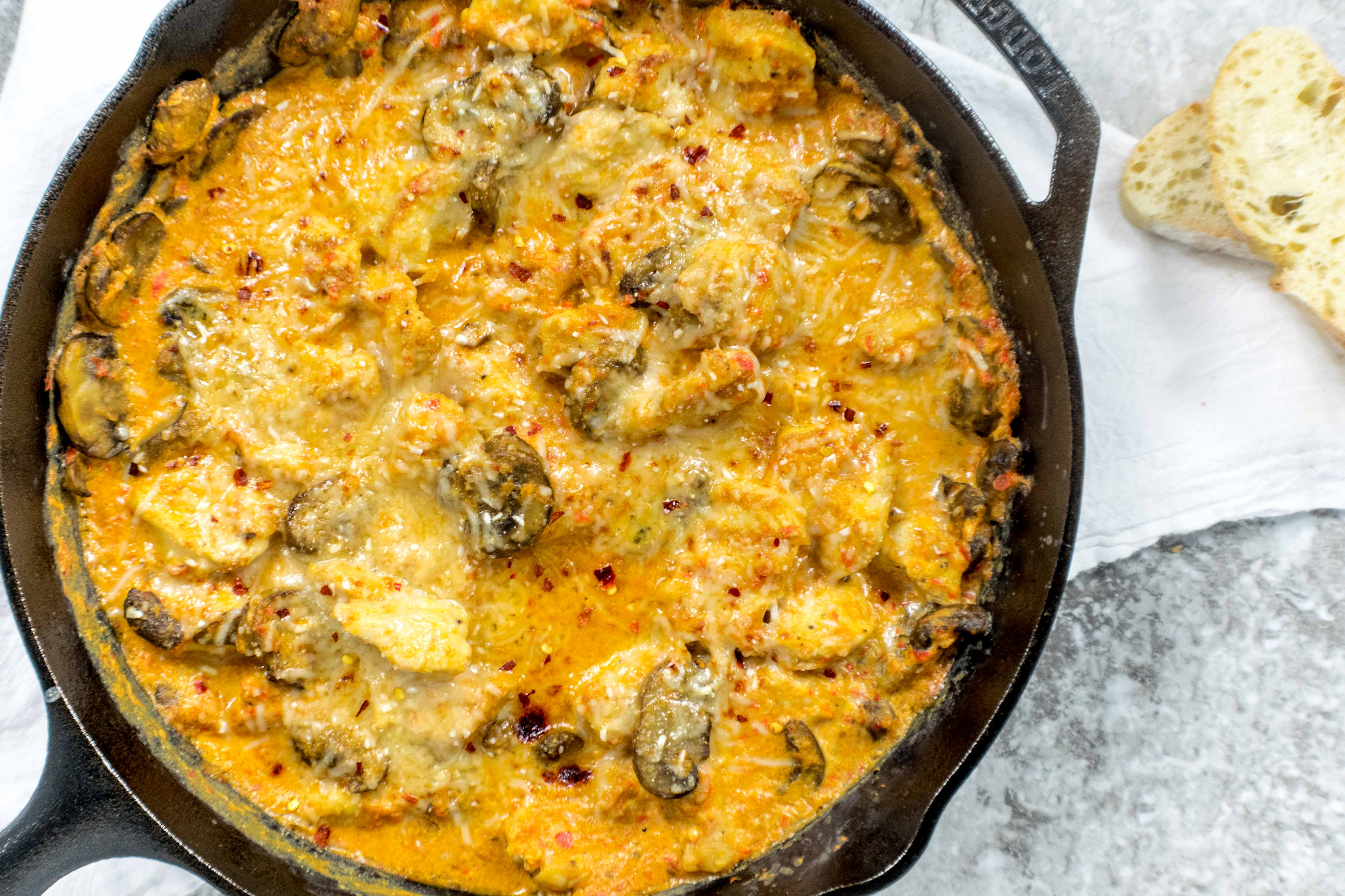 Delicious Creamy Chicken And Mushrooms