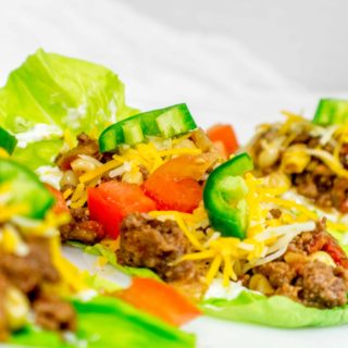 Ground Beef Lettuce Tacos