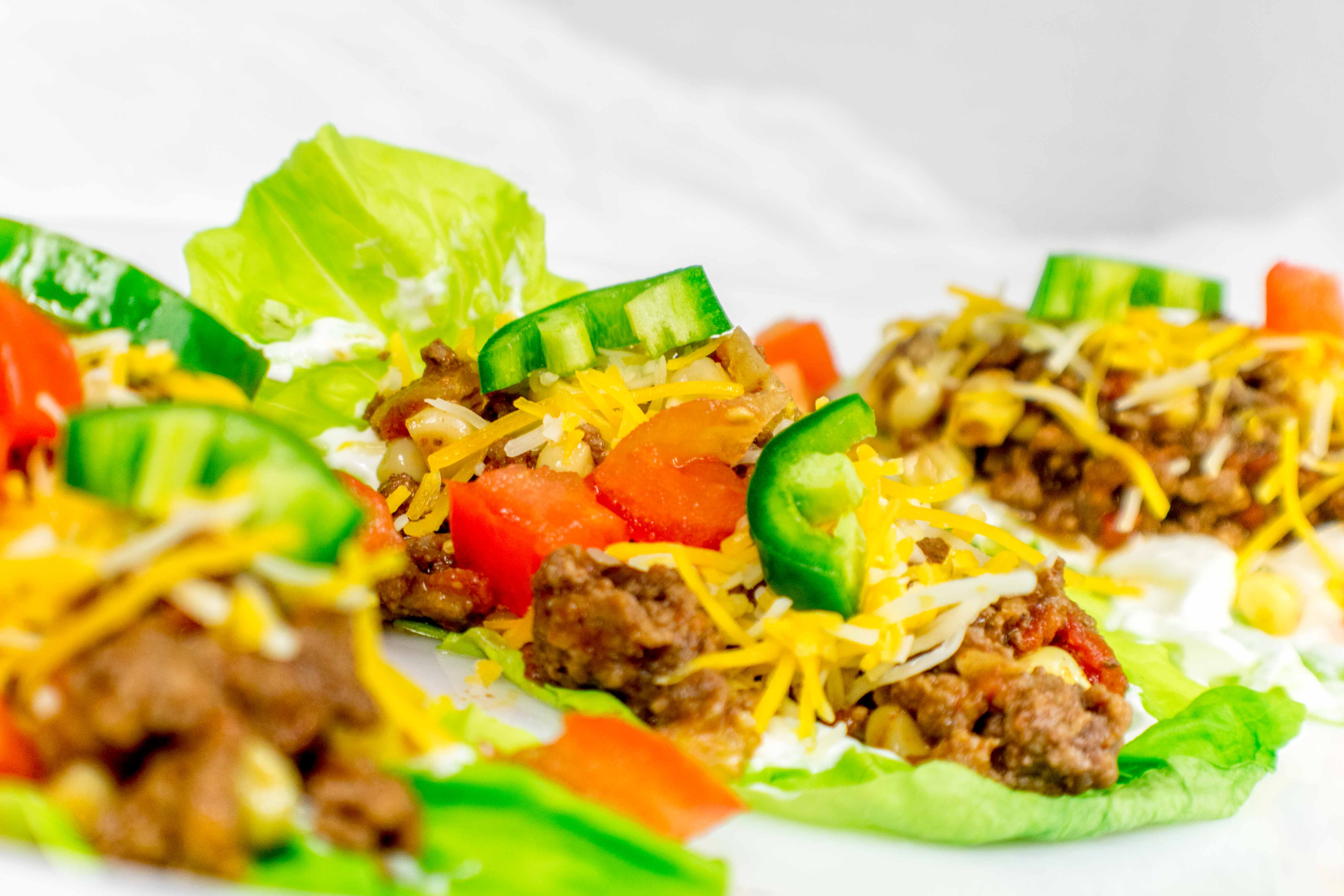 Easy and Healthy Ground Beef Lettuce Tacos