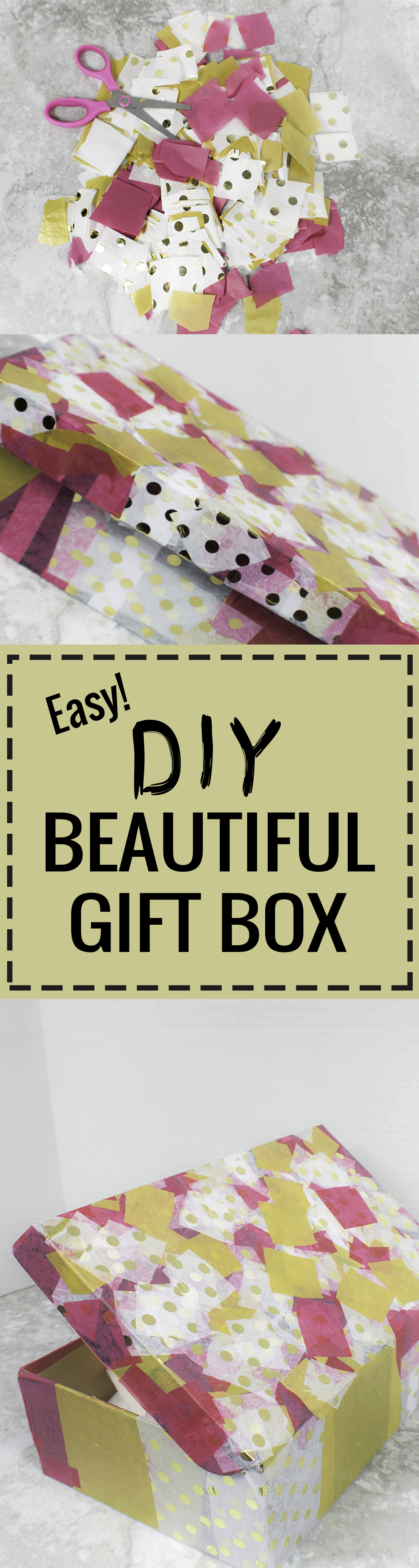 EASY DIY BEAUTIFUL GIFT BOX