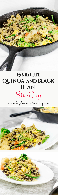 QUINOA AND BLACK BEAN STIR FRY