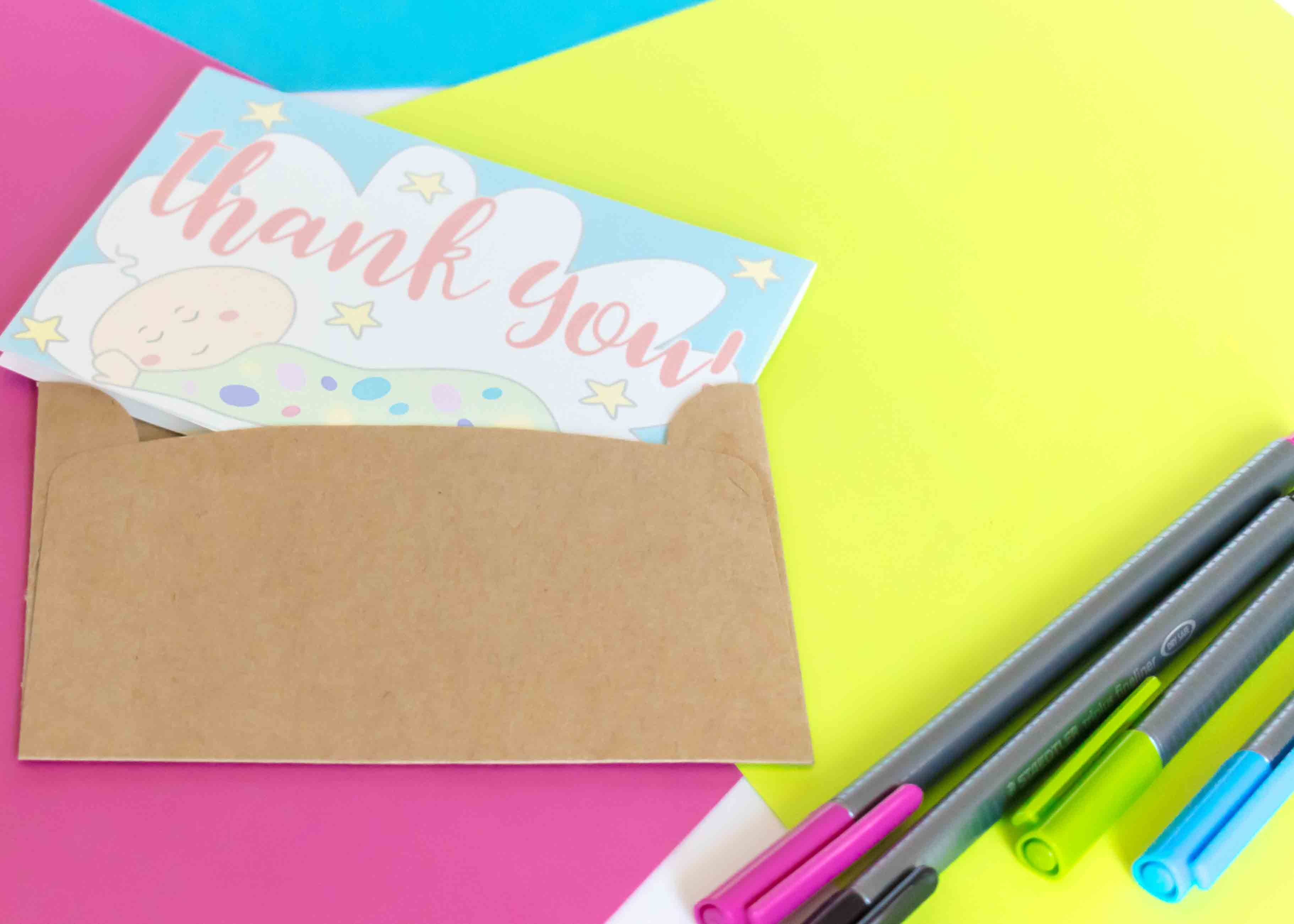 baby shower thank you cards free printable  daydream into