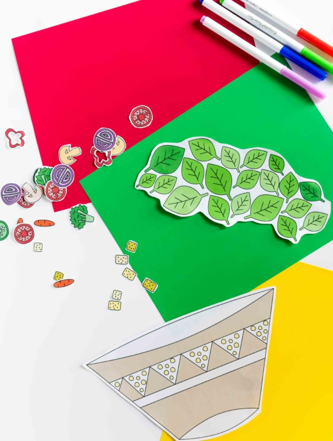 Teach your kids to love veggies with this Build a Salad Craft Free Printable! You never know, they might want to eat a salad after they're done with it!
