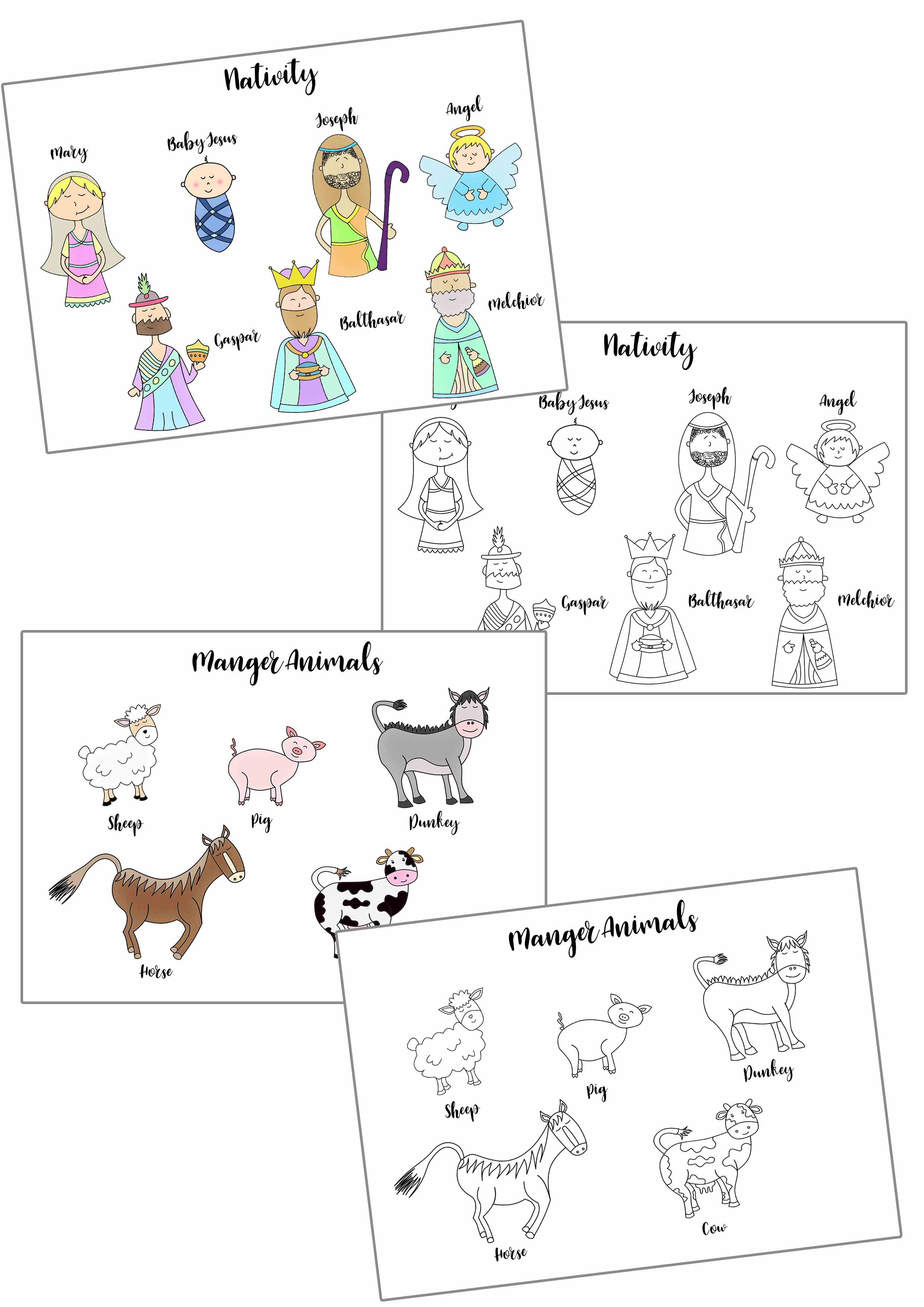 christmas story stick puppets free printable