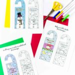 Welcome the cold season of the year with these Coloring Winter Door Hangers Free Printable. Trust me, they'll look really cute on your children's bedroom!!!