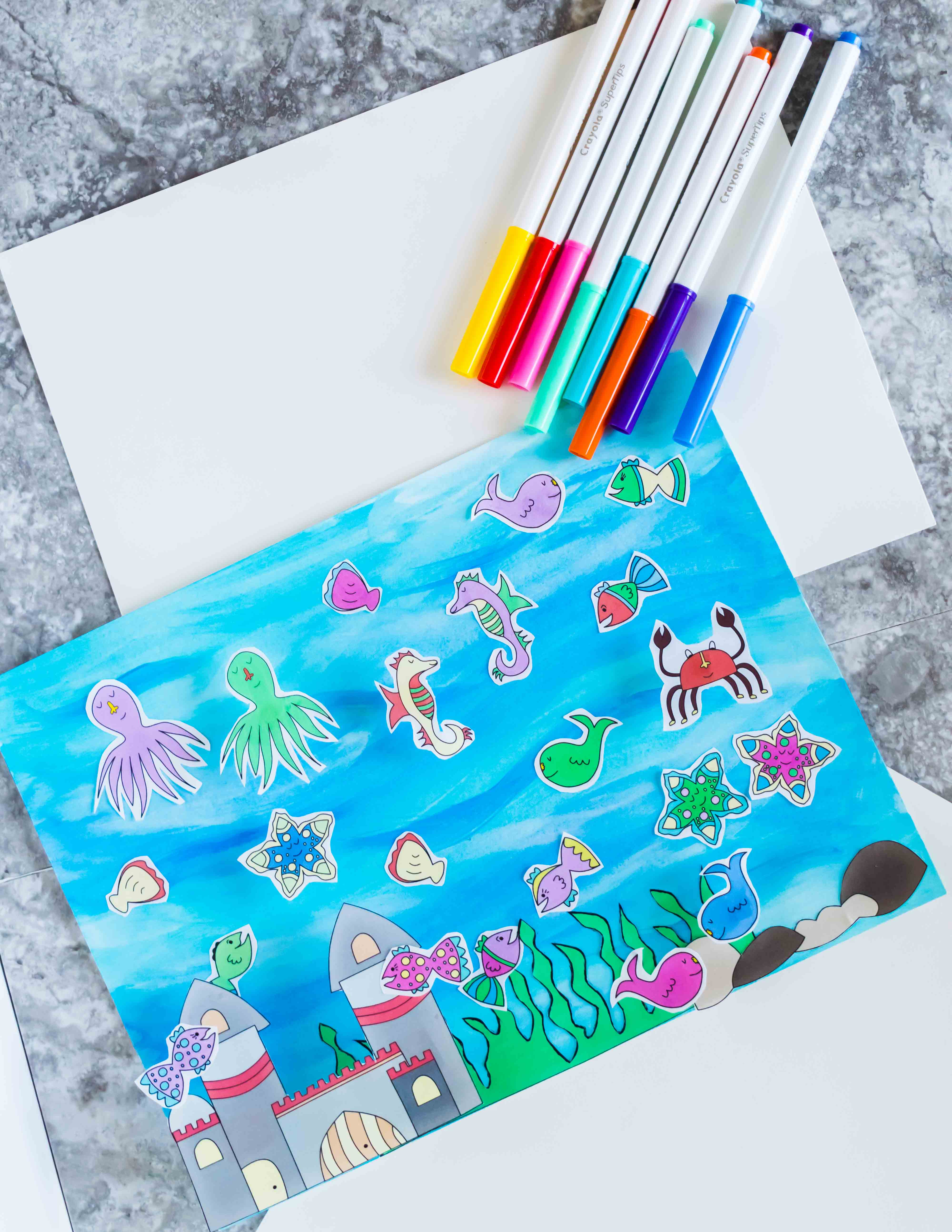 Easy and cute fish tank craft for kids free printable for Fish tank for kids