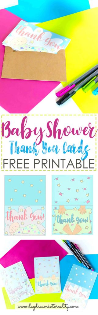 I can't believe how awesome and cute these Baby Shower Thank You Cards are. They are so beautifully designed and best of all, they are FREE!