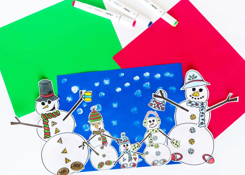 Sometimes it can be very cold outside and the little ones still need to have some fun! Am I right? No worries, I got you covered :) Come and get thisBuild The Snowman's Family Free Printable! A great indoor winter craft for your kids to have fun :)