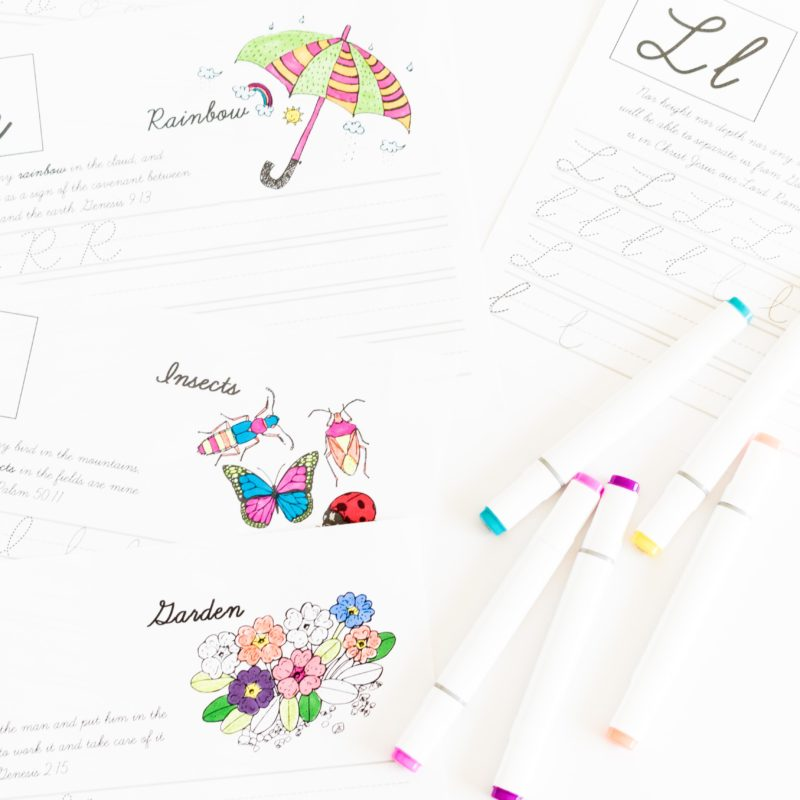 Practice your Cursive ABC with Bible Verses – Free Printable