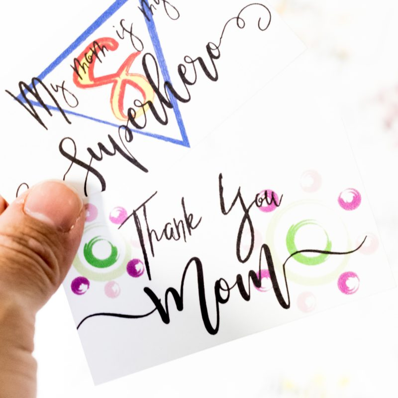 Mother's Day Pocket Cards Free Printable