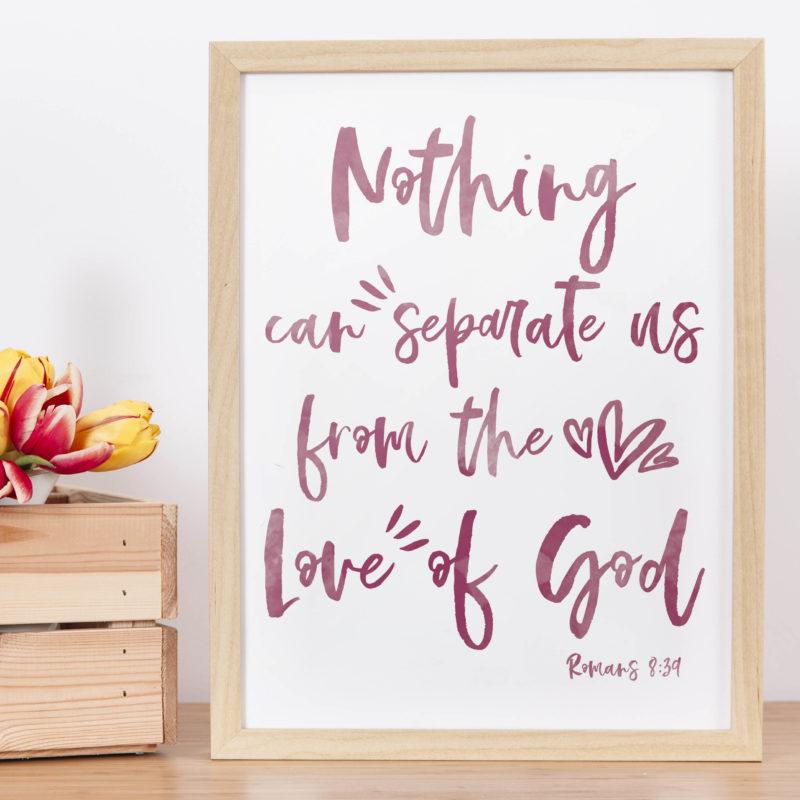 Romans 8:39 Free Wall Art Printables to Display at Home