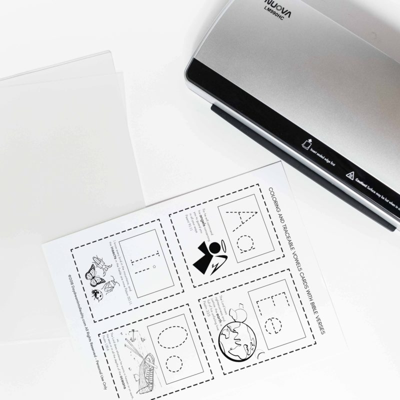 How to Laminate and Make Printables more Durable