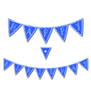 Free Printables Library Happy Birthday Banner Blue