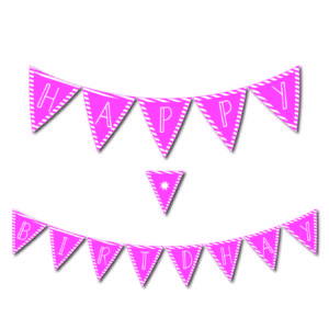 Free Printables Library Happy Birthday Banner Pink
