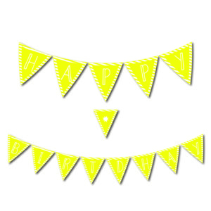Free Printables Library Happy Birthday Banner Yellow