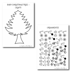 Take Christmas to a whole new level! Build a mini tree for your little ones and place it on their night stand.