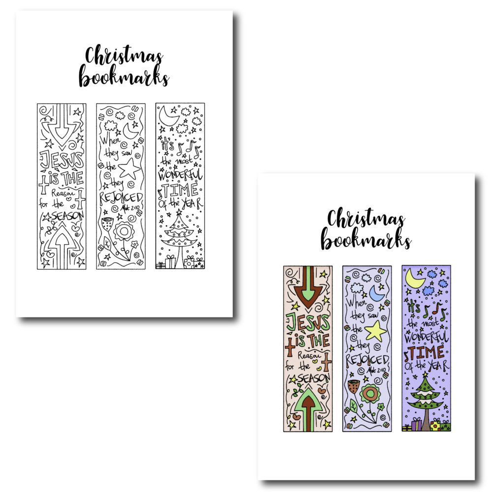Print and cut around this bookmarks. Give them as a present to someone you love. They are perfect even for you!