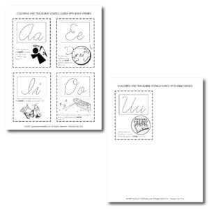 Help your little one learn scripture and his vowels with these flash cards. They are best when laminated. Read the tutorial so you can learn how do it!