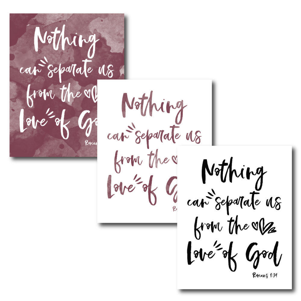 Display this beautiful verse in your home to be reminded of God