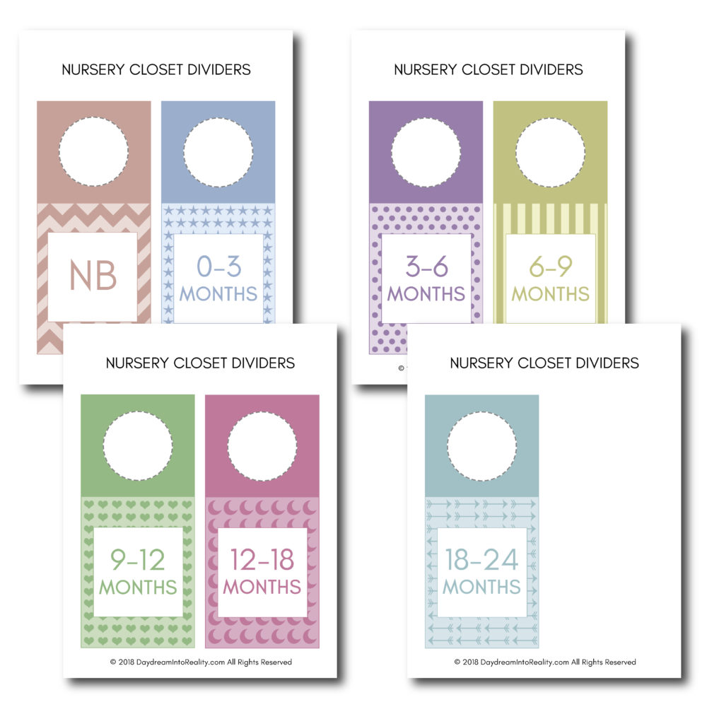 Just had a baby and want to keep all things organize? Use these beautiful printables to organize all of his/her clothes!
