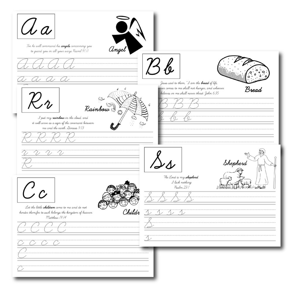 Combine coloring, Cursive ABCs, and Scripture Learning with this super complete printable.... This is one of my most popular printables of all time.