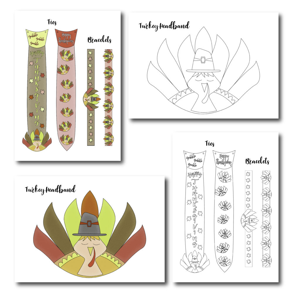Thinking of activities for your little ones during Thanksgiving? Have fun with this great printable. Your children will look adorable once the put everything on. Make sure to read the tutorial for the headbands especially.