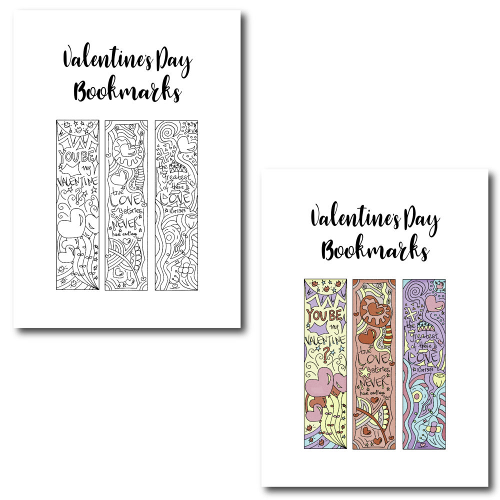 I love bookmarks. I am sure you can tell :) Make sure to make you loved ones feel extra especial with these beautiful bookmarks!