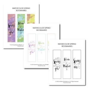 Reading during the spring season? These watercolor bookmarks are just the perfect touch so you don't miss where you are at!