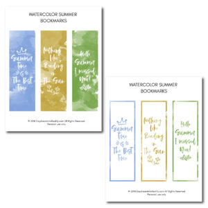 Nothing beats summer.... Except reading a good book during the summer! Give your books some color by printing and cutting these beautiful bookmarks!