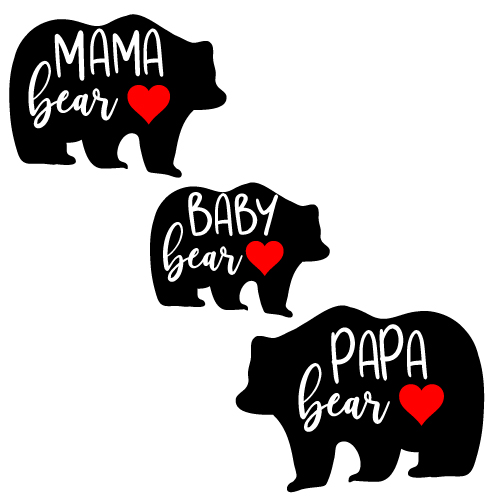Family Bear SVG
