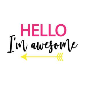 Hello I am awesome SVG