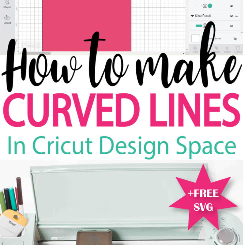How to make a Curved line in Cricut Design Space