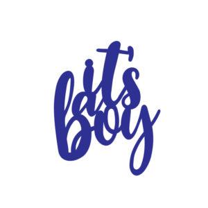 SVG Files_FREE SVG It a boy caketopper