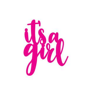SVG Files_FREE SVG It a girl caketopper