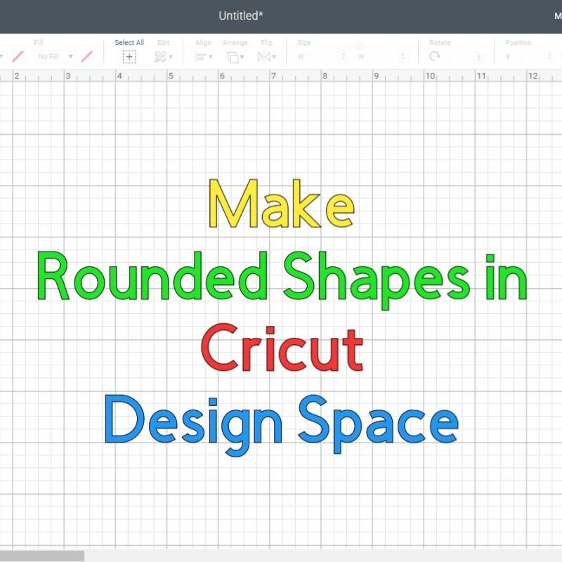 Make Rounded Corners in Cricut Design Space +Free SVG Rounded Shapes