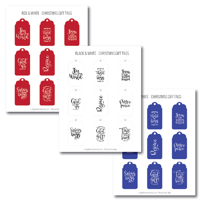 Free Christ Centered Christmas gift tags