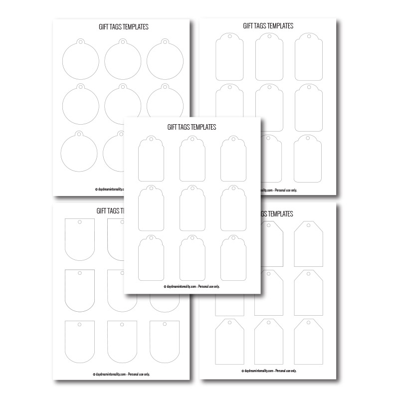 Free Gift tags templates for any occasion