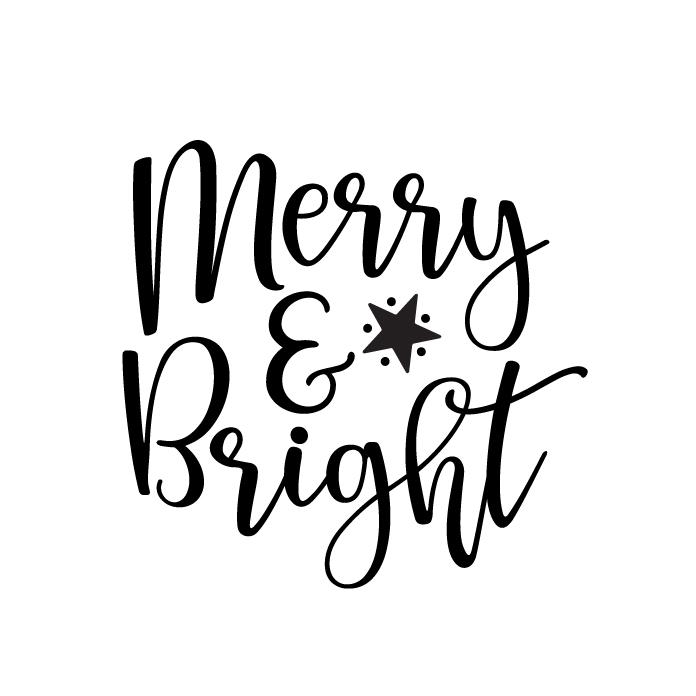 Merry & Bright Free SVG