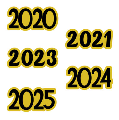 Years 2020, 2021, 2022, 2023, 2024, 2025