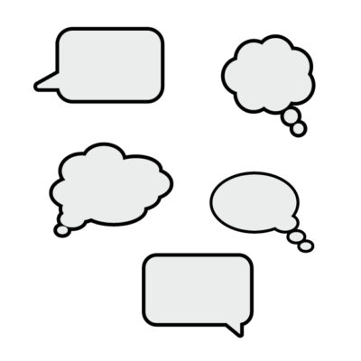 conversational clouds Free SVG Template for photo booth props