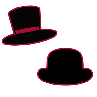 two different hat styles Free SVG Template for photo booth props
