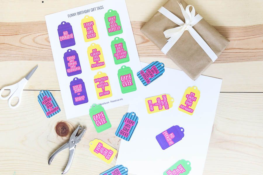 Assorted birthday gift tags free printable