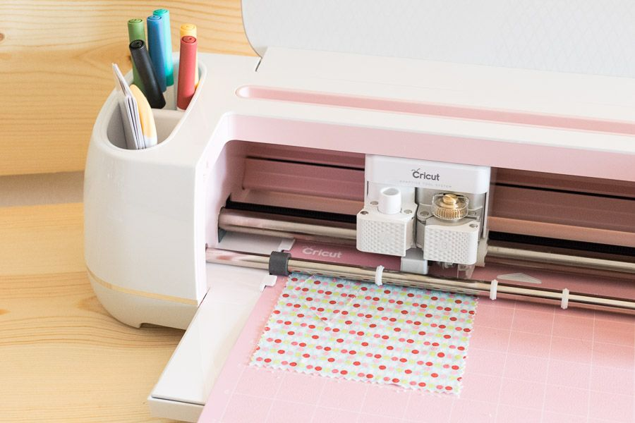 Cricut Maker first project cutting fabric