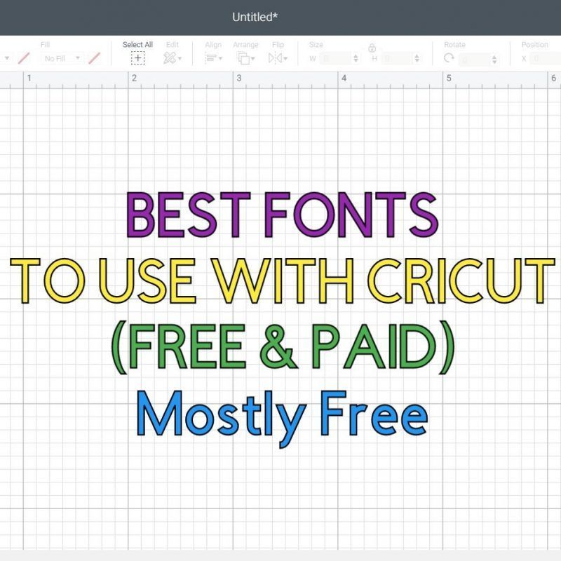 Best fonts to use with your Cricut (Free & Paid)|  Best Practices, Tips & Tricks