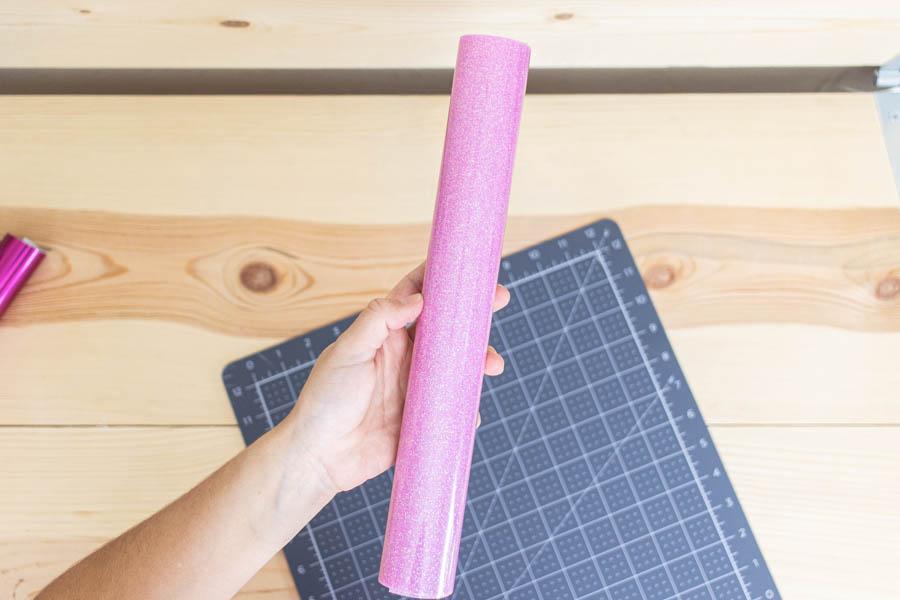 pink glitter iron-on htv