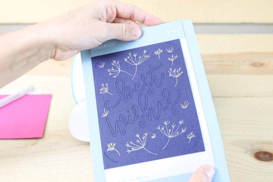 Card made with Cricut Joy