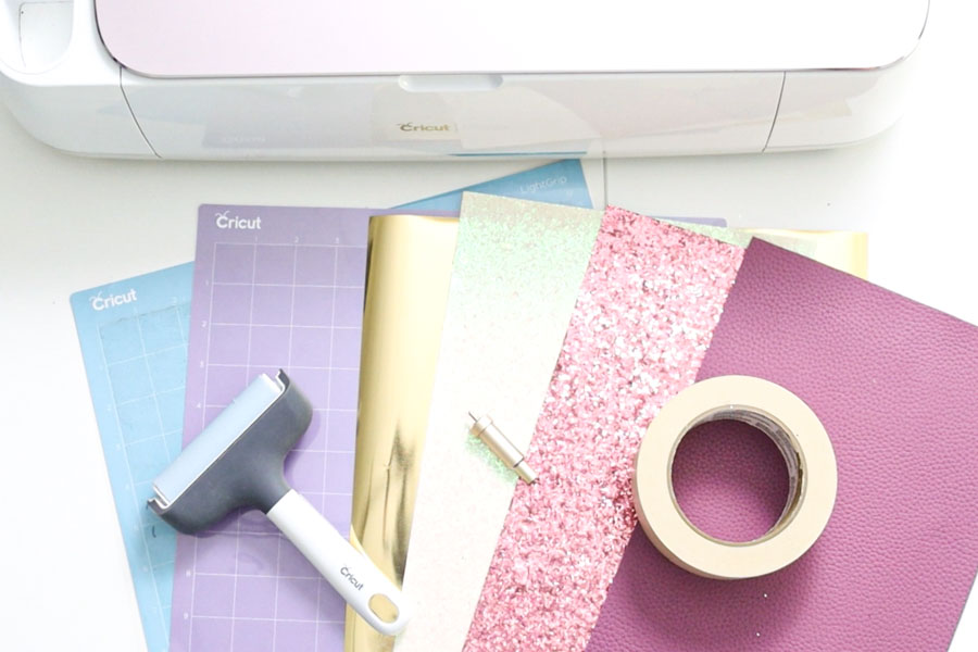 materials needed for hair bows with cricut