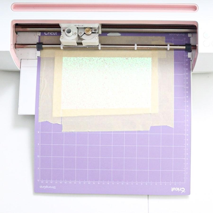 cricut cutting glitter canvas